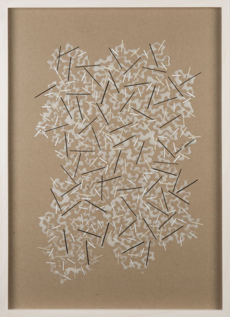 Dominique Edwards. Mop|Map. Cold glue, tape, brown paper. 2015